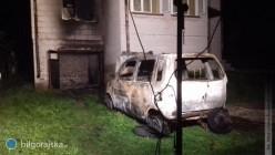 Pożar samochodu wgarażu
