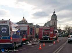 Pożar domu wBiłgoraju
