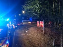 19-latek zBiłgoraja zderzył się zciężarówką. Zginęła pasażerka