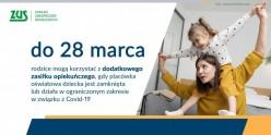Zasiłek na opiekę do 28 marca