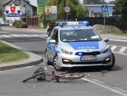 Rowerzysta potrącony przez samochód ciężarowy