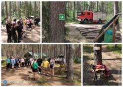 Próbna ewakuacja obozowiska