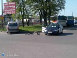 Potrącona rowerzystka przy dworcu PKS