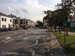 Skrzyżowanie ulic Lubelska-Kościuszki bez sygnalizacji świetlnej