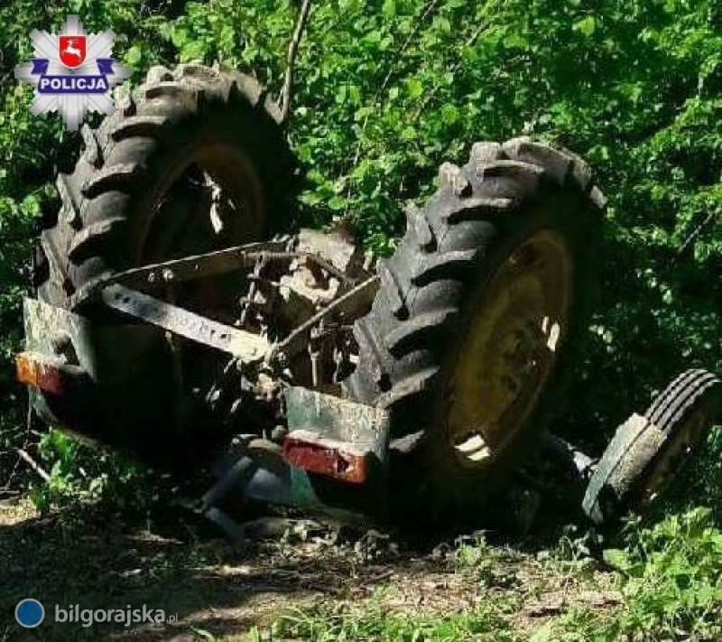 Traktor przygniótł mężczyznę, interweniował śmigłowiec LPR