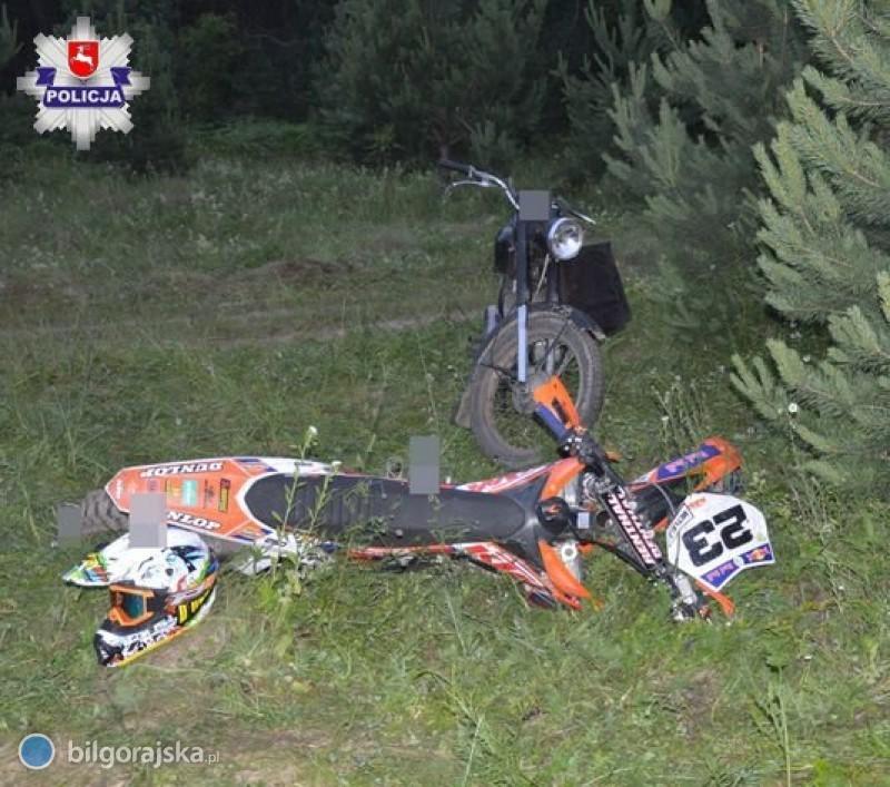 """""""Czołówka"""" dwóch motocyklistów"""