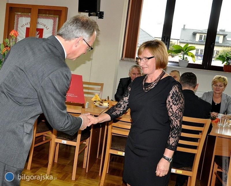 Nauczyciele nagrodzeni przez burmistrza