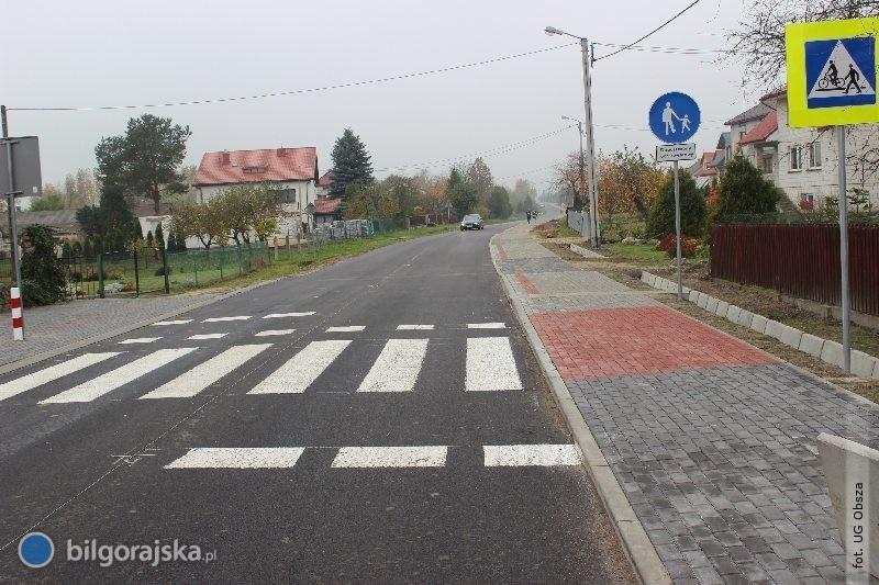 Przebudowa drogi Obsza - Zamch na finiszu