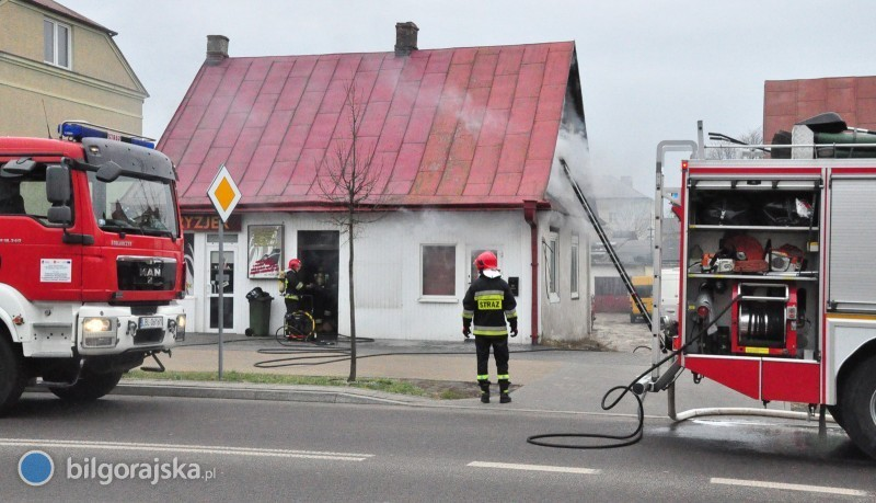 Pożar na ul. Kościuszki