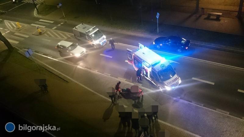 Potrącenie pieszego na ul. Kościuszki