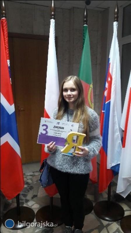 Sukces uczennicy wMiędzynarodowej Olimpiadzie Języka Rosyjskiego wMoskwie
