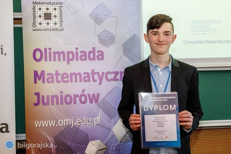 Matematyczny sukces Piotrka Łaby