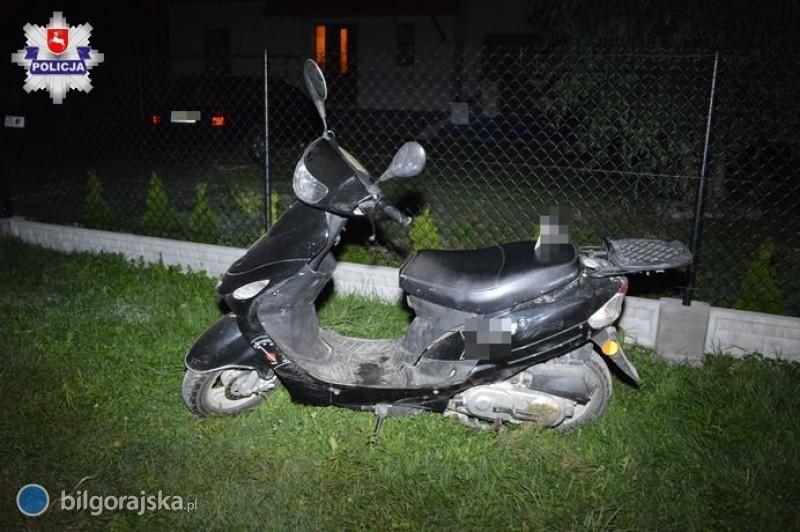 Nietrzeźwy kierowca motoroweru sprawcą wypadku