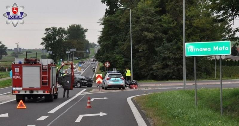 Motocyklista został poważnie ranny