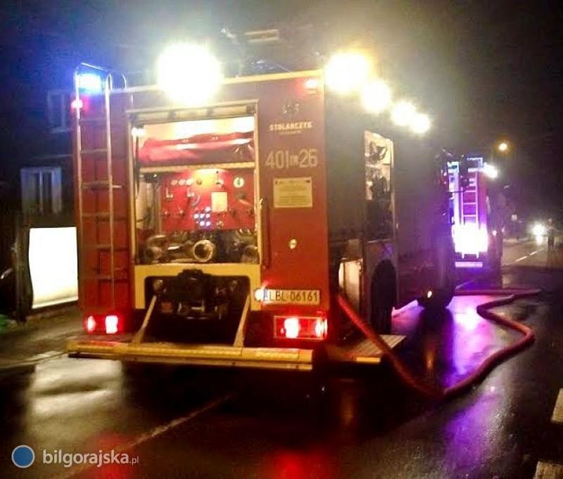 Pożar wmieszkaniu wcentrum Biłgoraja