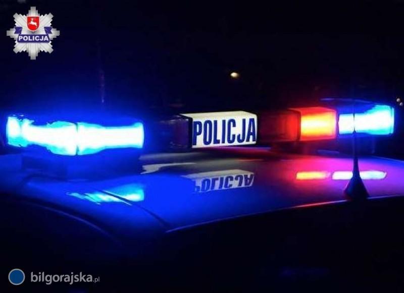 W policyjnej eskorcie do szpitala