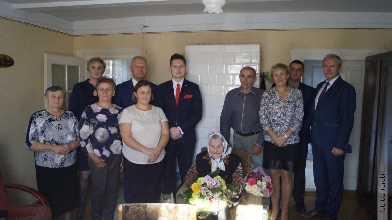 Jubileusz 100-lecia urodzin mieszkanki gminy Turobin