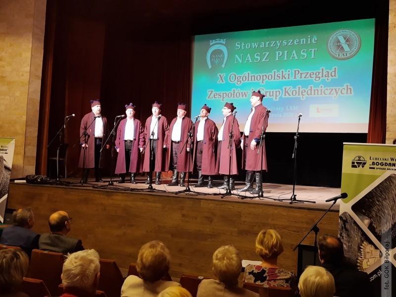 Męski Zespół Śpiewaczy zBukowej na ogólnopolskim przeglądzie