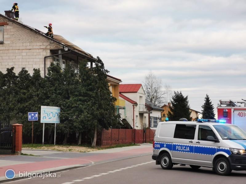 Zerwany dach na budynku mieszkalnym