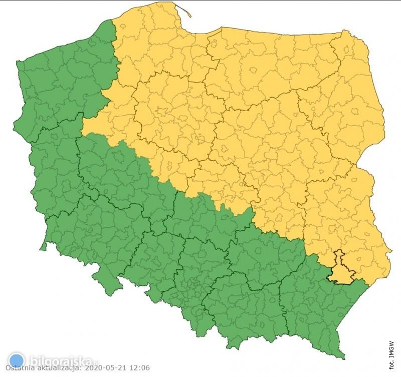 Komunikat IMGW dla powiatu biłgorajskiego