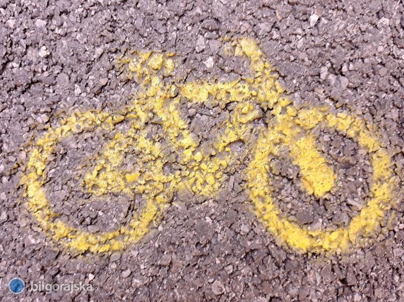 Potrącenie na drodze dla rowerów