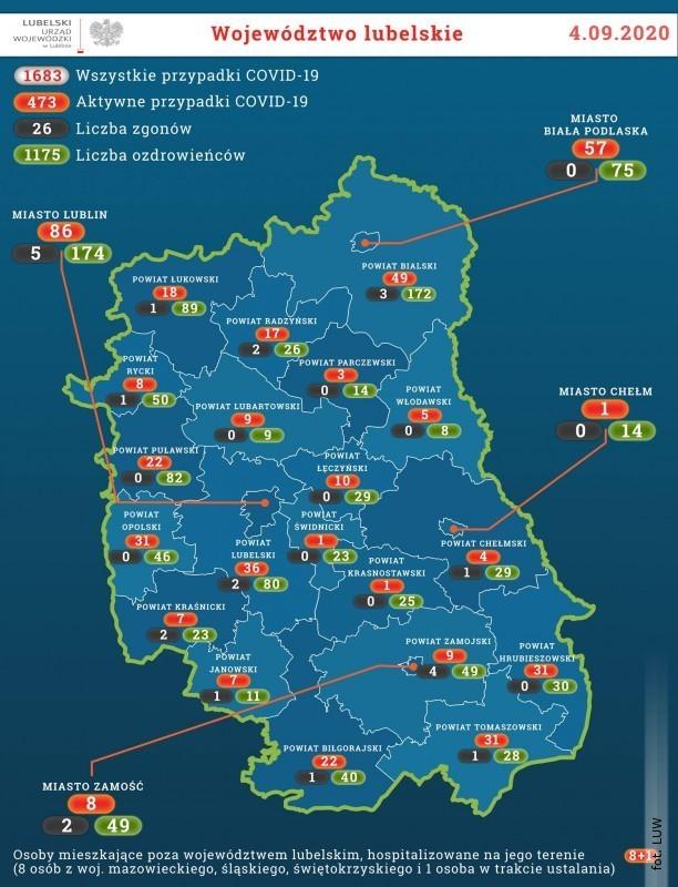 5 mieszkańców powiatu zakażonych koronawirusem