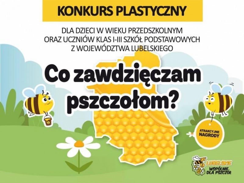 """Konkurs plastyczny dla dzieci """"Co zawdzięczam pszczołom?"""""""