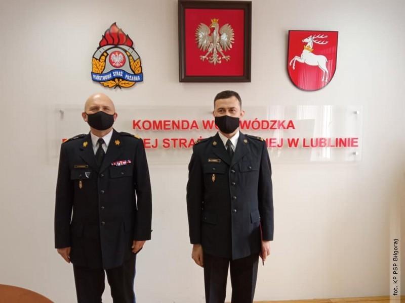 Nowy zastępca komendanta KP PSP wBiłgoraju