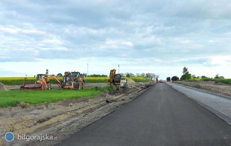 Postęp prac przy przebudowie trasy nr 835