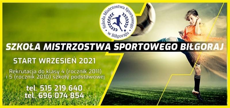 Szkoła Mistrzostwa Sportowego wBiłgoraju zaprasza na dzień otwarty