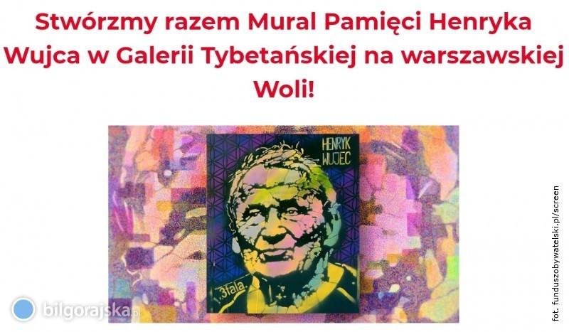 Powstanie mural poświęcony Henrykowi Wujcowi