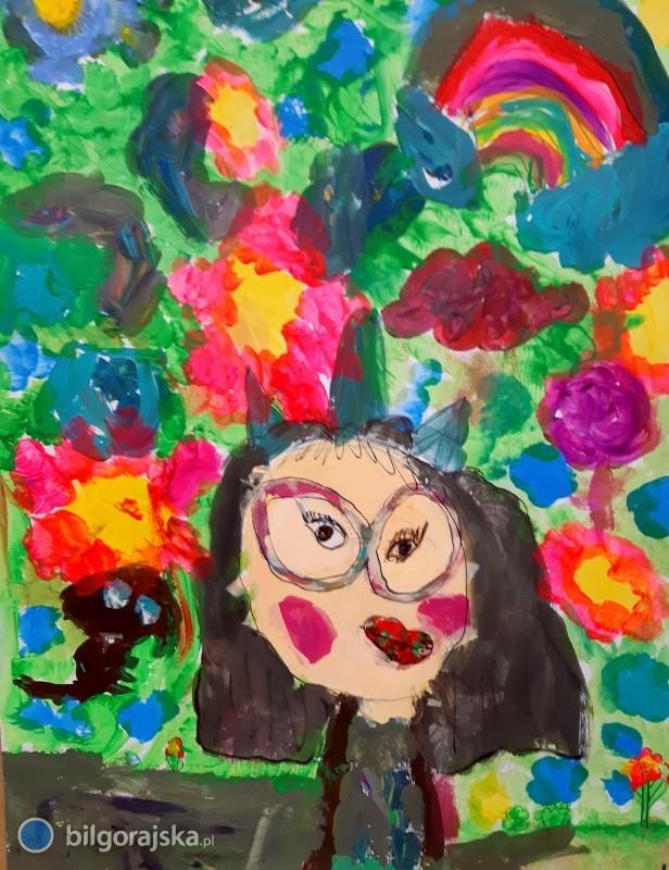 5-letnia Lenka Obszyńska laureatką wkonkursie plastycznym