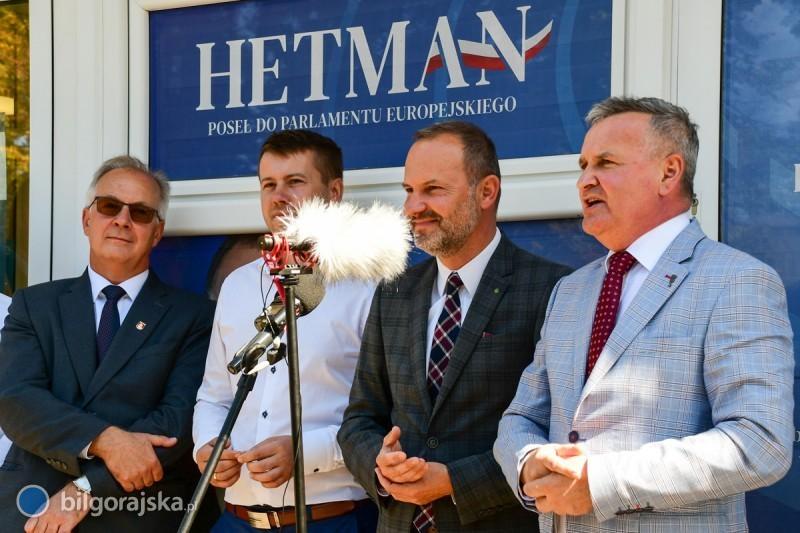 Otwarcie biura europosła Krzysztofa Hetmana