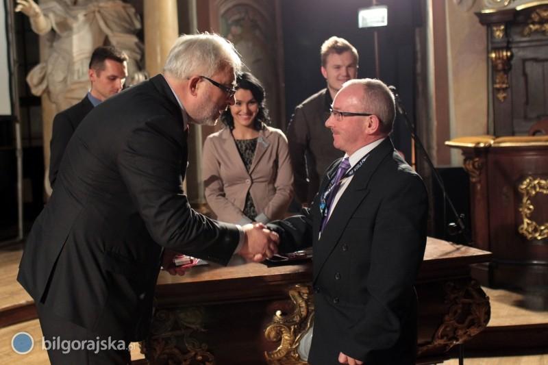 Zdzisław Żołopa odznaczony srebrną odznaką