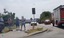 Zderzenie aut na skrzyżowaniu ul. Poniatowskiego iul. Cegielnianej