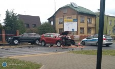 Zderzenie aut na skrzyżowaniu ul. Gen. Komorowskiego iPrusa