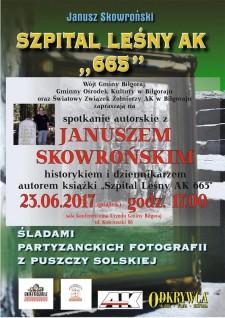 Spotkanie autorskie zJanuszem Skowrońskim