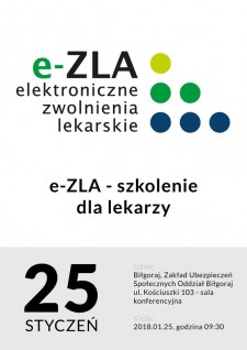 e-ZLA - szkolenie dla lekarzy