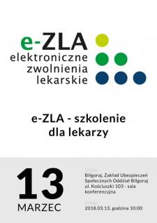 e-ZLA - elektroniczna forma zwolnień lekarskich - szkolenie dla płatników składek