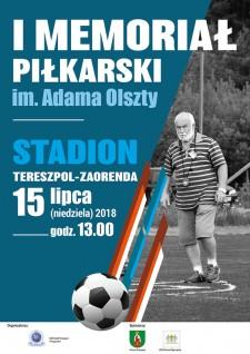 I Memoriał piłkarski im. Adma Olszty