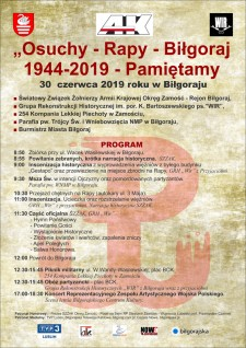 Osuchy - Rapy - Biłgoraj 1944-2019 - Pamiętamy