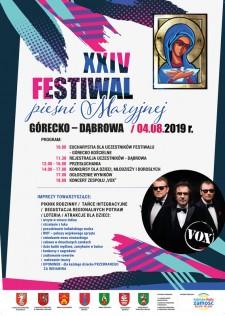 """XXIV FESTIWAL PIEŚNI MARYJNEJ """"GÓRECKO KOŚCIELNE - DĄBROWA 2019"""""""