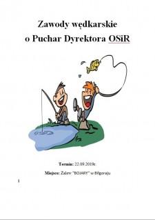 Zawody wędkarskie oPuchar Dyrektora OSiR