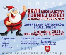 XXVIII Mikołajkowy Turniej Dzieci wKarate Tradycyjnym
