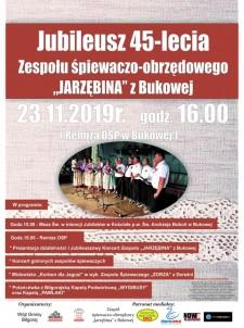 """Jubileusz 45-lecia Zespołu śpiewaczo-obrzędowego """"Jarzębina"""""""