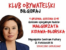 Spotkanie zMałgorzatą Kidawą-Błońską