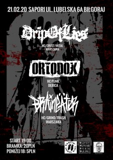 Koncert Drip Of Lies / Ortodox / Braineäter