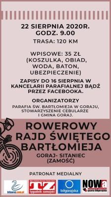 Rowerowy Rajd św. Bartłomieja