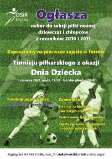 Nabór do Sekcji Piłki Nożnej OSiR Biłgoraj rocznik 2010 i2011 - pierwsze zajęcia