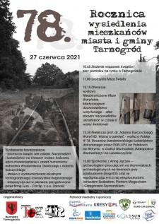78. rocznica pacyfikacji mieszkańców Tarnogrodu